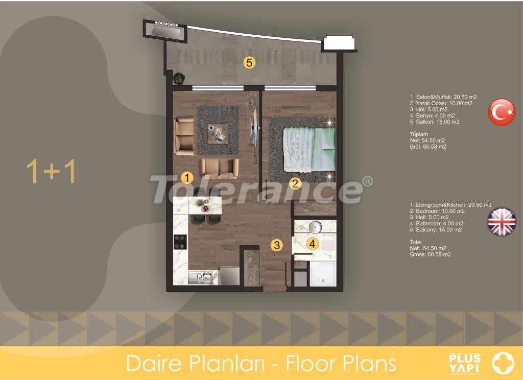 Modern apartments in Oba,  from the reliable developer with installments - 28717 | Tolerance Homes