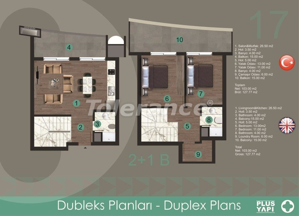 Modern apartments in Oba,  from the reliable developer with installments - 28723 | Tolerance Homes