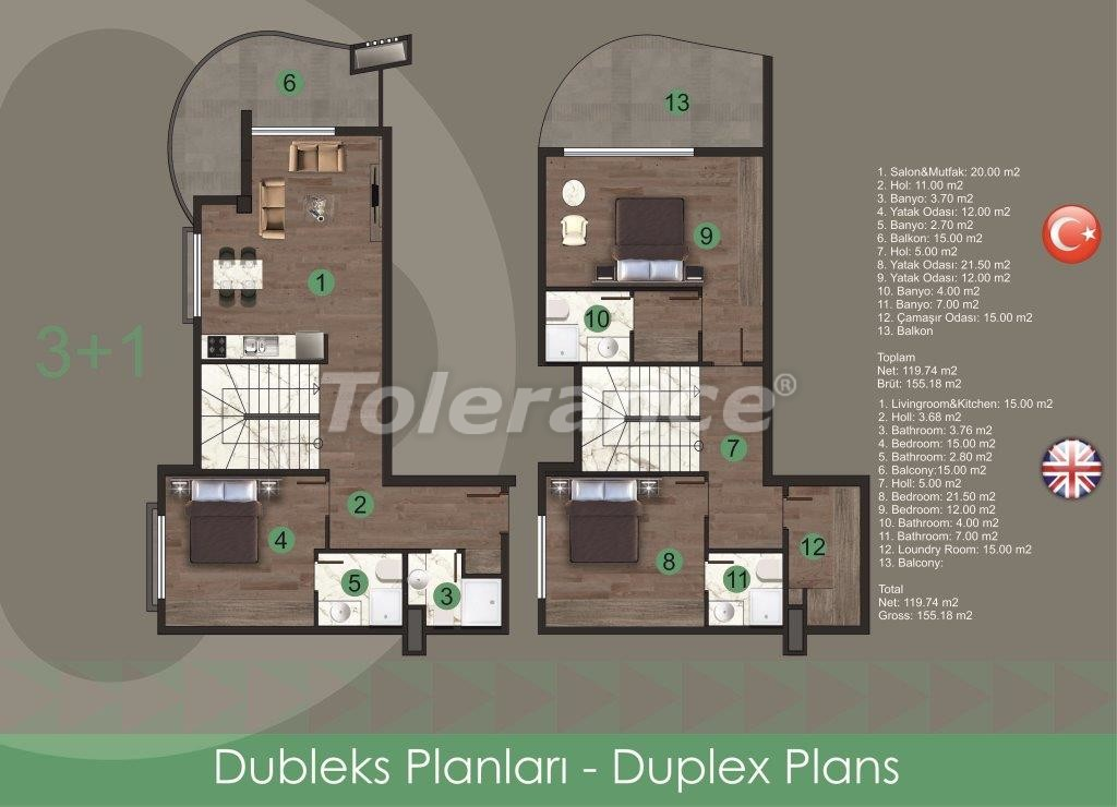 Modern apartments in Oba,  from the reliable developer with installments - 28725 | Tolerance Homes