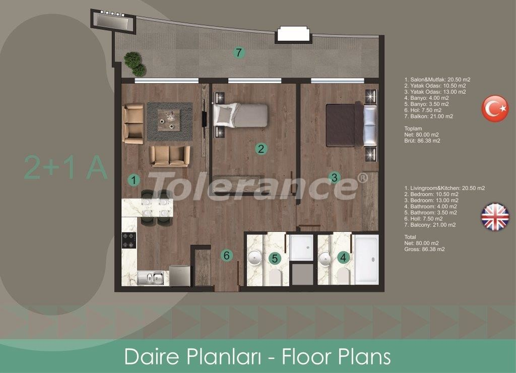 Modern apartments in Oba,  from the reliable developer with installments - 28718 | Tolerance Homes