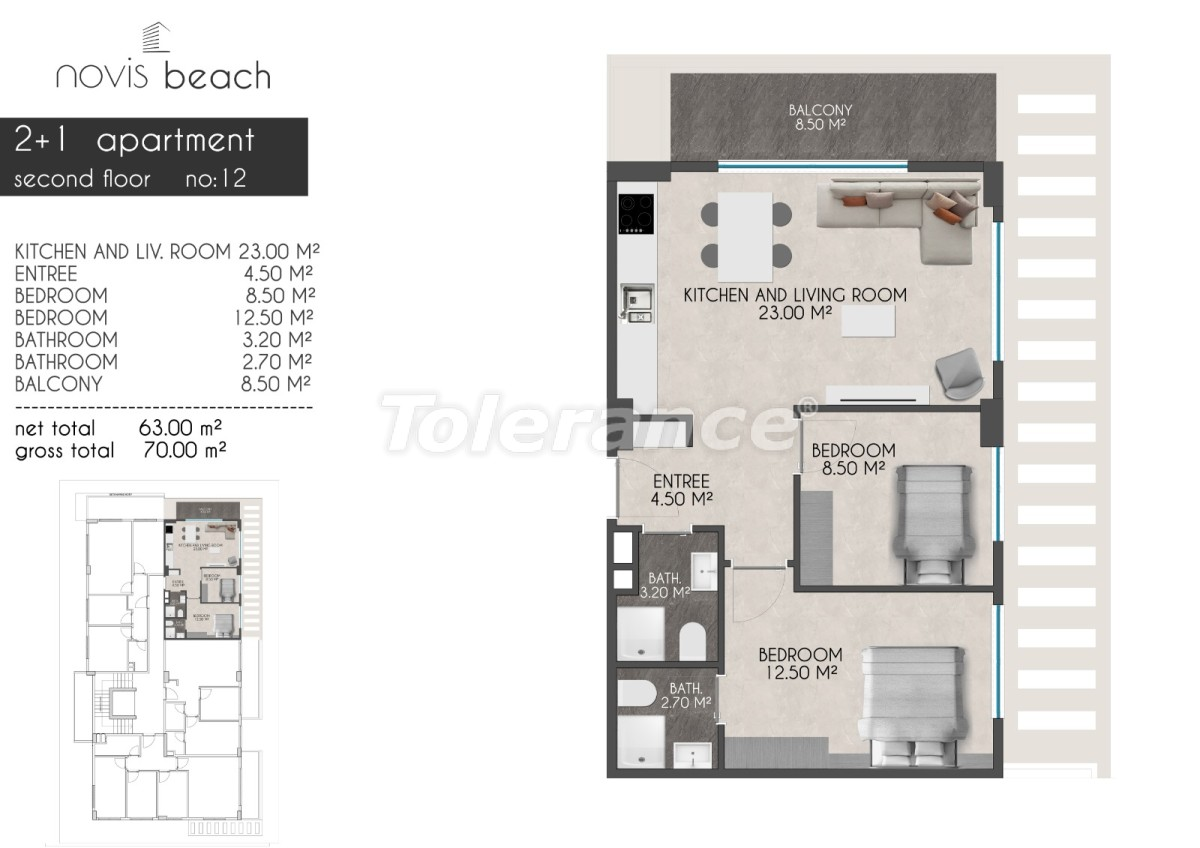 Modern complex in Kestel from developer with beautiful sea and mountain view - 28416 | Tolerance Homes