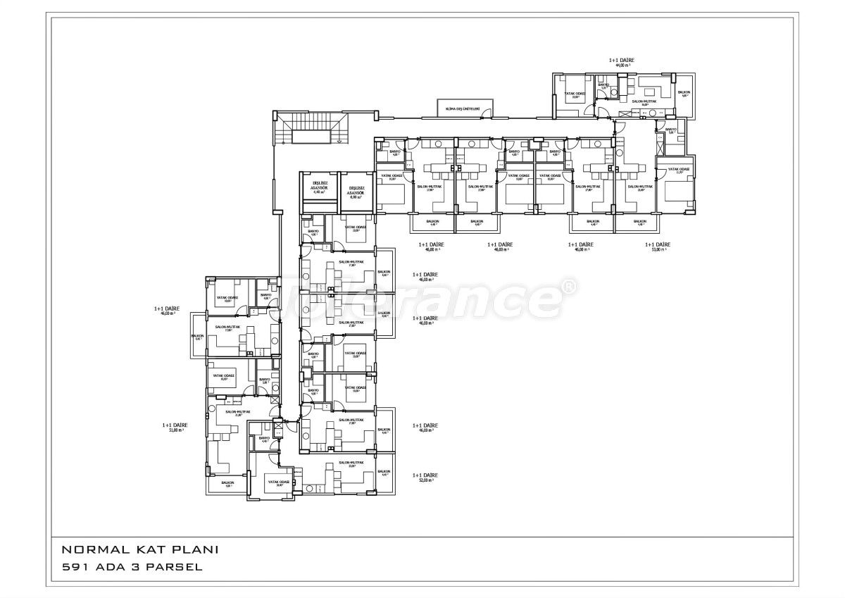 The new apartments in Oba  in a complex with a swimming pool - 28458 | Tolerance Homes