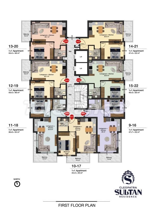 Elite apartments in Alanya near Cleopatra beach - 28562 | Tolerance Homes