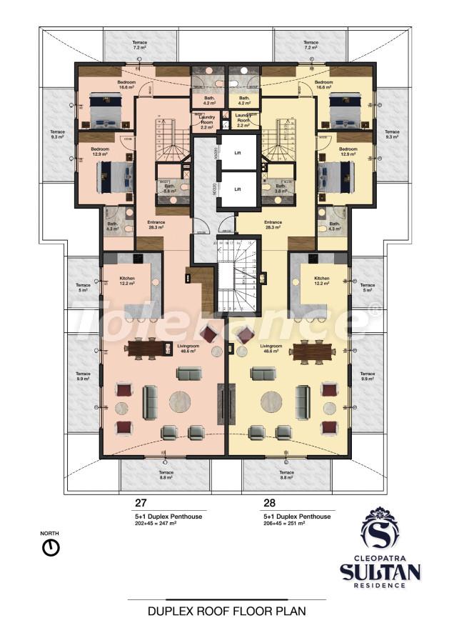 Elite apartments in Alanya near Cleopatra beach - 28565 | Tolerance Homes