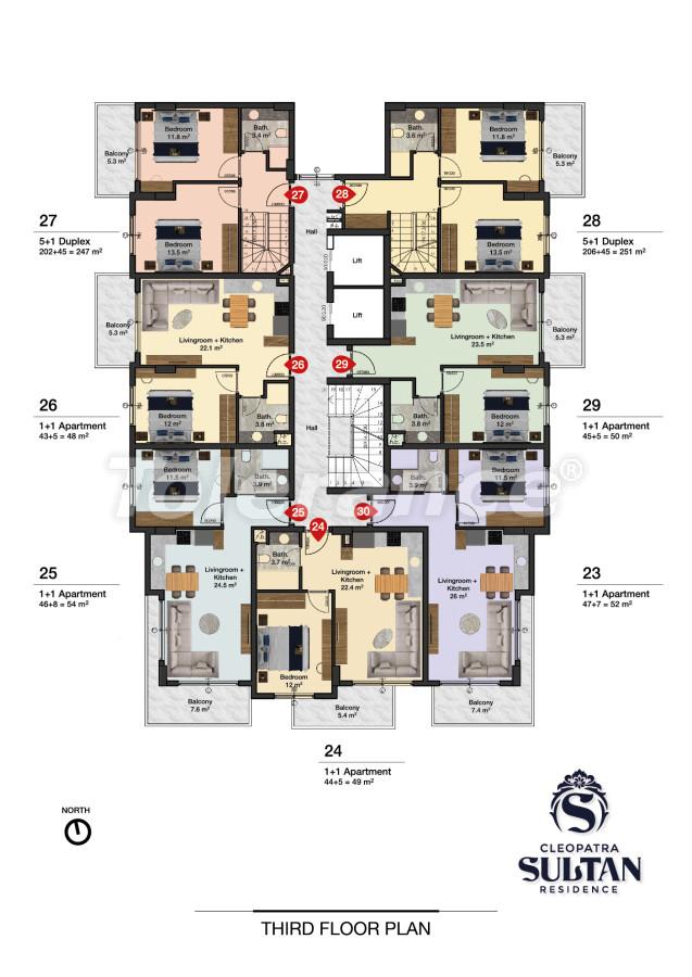 Elite apartments in Alanya near Cleopatra beach - 28564 | Tolerance Homes