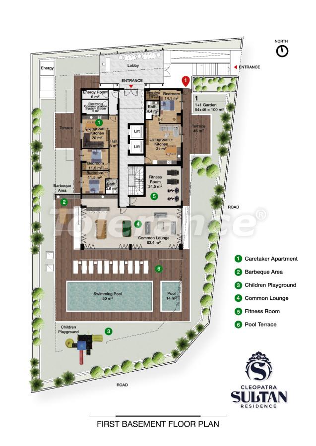 Elite apartments in Alanya near Cleopatra beach - 28559   Tolerance Homes