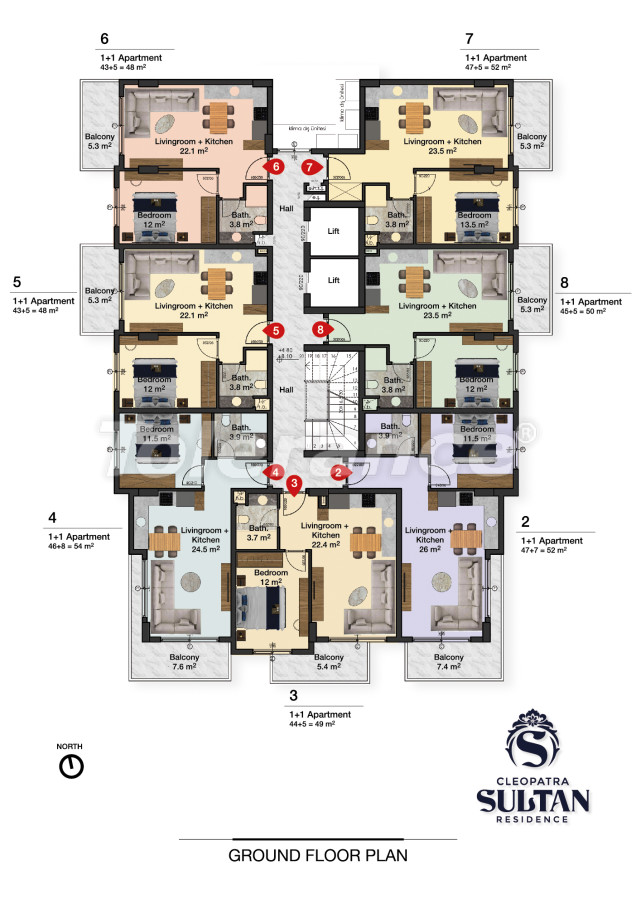 Elite apartments in Alanya near Cleopatra beach - 28561   Tolerance Homes
