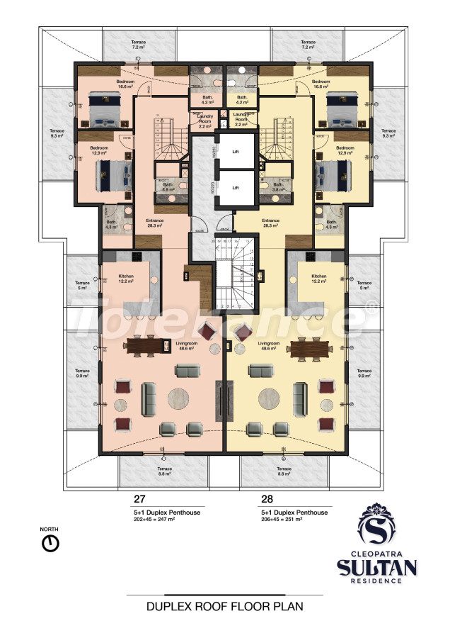 Elite apartments in Alanya near Cleopatra beach - 28565   Tolerance Homes