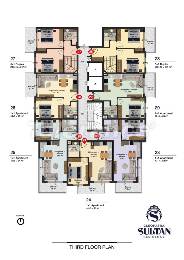 Elite apartments in Alanya near Cleopatra beach - 28564   Tolerance Homes