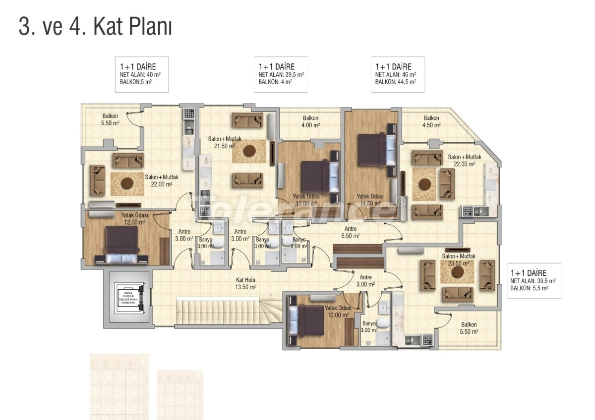 Cozy apartments in Mahmutlar, Alanya - 28833 | Tolerance Homes