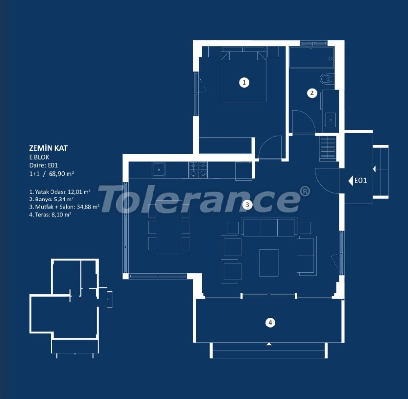 Stylish luxury apartments in Cesme, Izmir with sea views - 29374 | Tolerance Homes