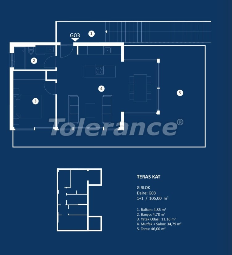 Stylish luxury apartments in Cesme, Izmir with sea views - 29378 | Tolerance Homes