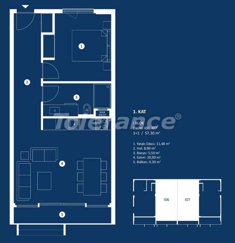 Stylish luxury apartments in Cesme, Izmir with sea views - 29379 | Tolerance Homes