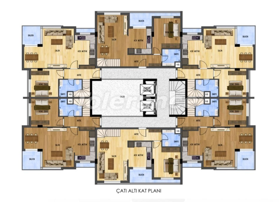 Luxurious apartments in Liman, Konyaalti from the developer just 900 meters from the sea - 29890 | Tolerance Homes