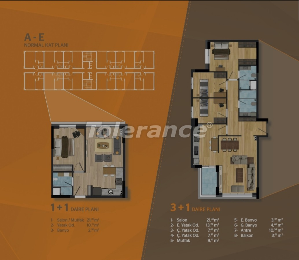 Spacious apartments in Kepez, Antalya in a modern complex - 30504 | Tolerance Homes