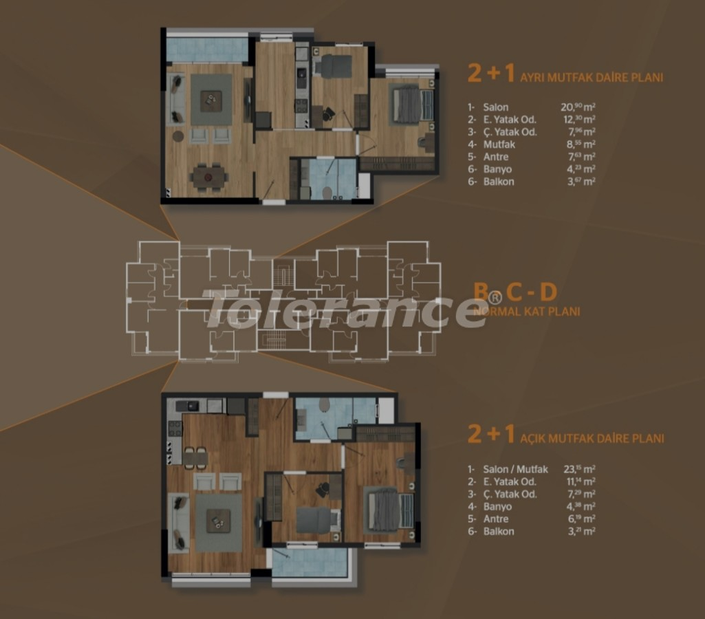 Spacious apartments in Kepez, Antalya in a modern complex - 30503 | Tolerance Homes