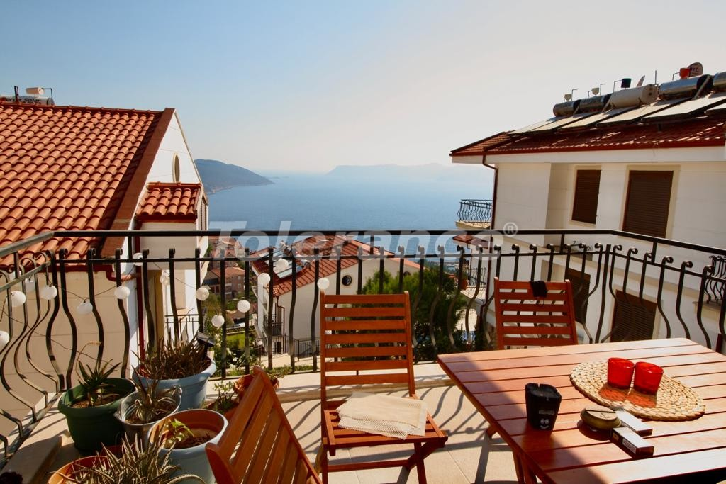 Resale two-bedroom apartment in the center of Kas with a beautiful view to the Mediterranean sea - 30588 | Tolerance Homes
