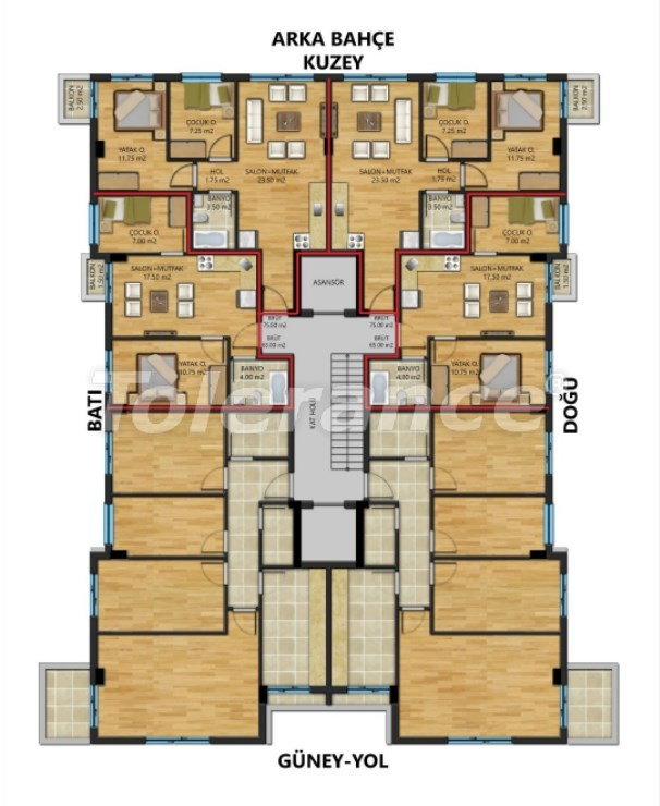Spacious apartments in Muratpasha, Antalya from a reliable developer - 30800 | Tolerance Homes