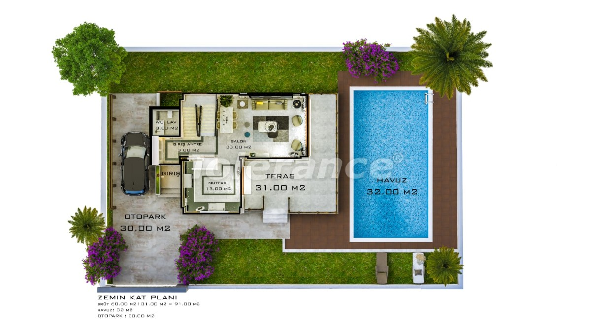 Luxury villas in Belek with private pool with installments up to 1 year - 30883   Tolerance Homes