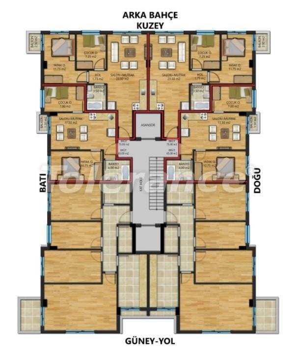 Two-bedroom apartments in Muratpasha, Antalya - 30888 | Tolerance Homes