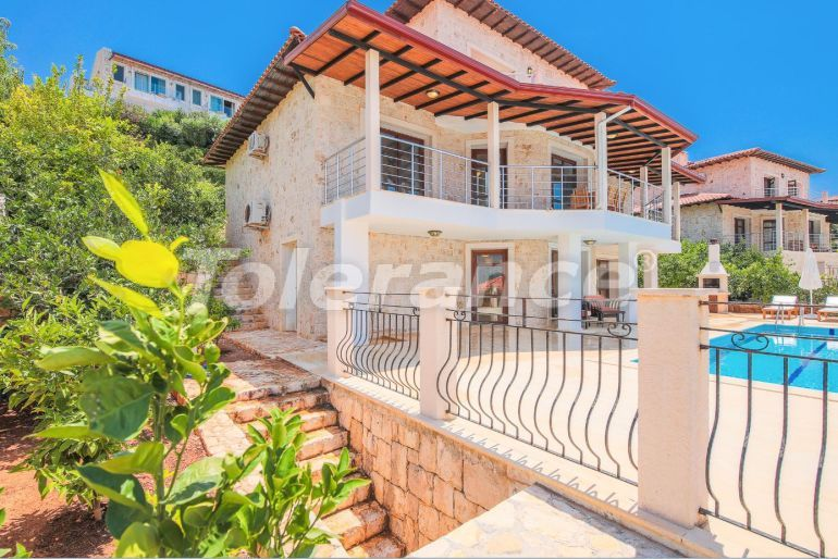 Private villa in Kas profitable for investment with outdoor pool, and with magnificent sea views - 31406   Tolerance Homes
