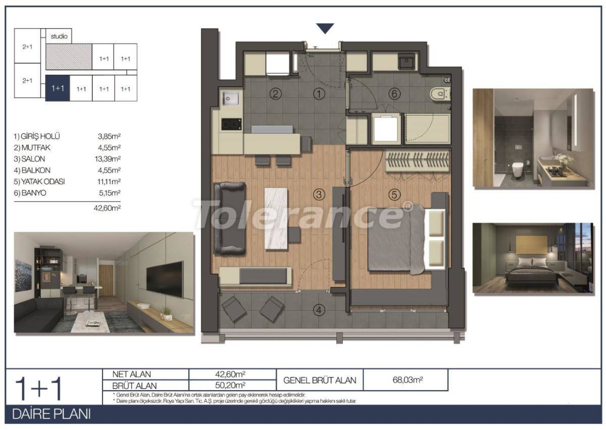 Apartments in Umraniye, Istanbul in a hotel type complex near the Istanbul Financial Center - 31543 | Tolerance Homes