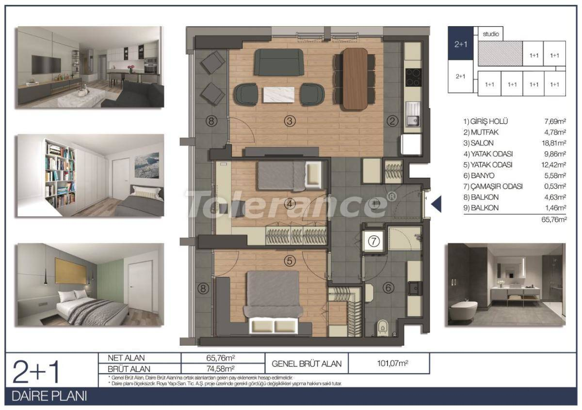 Apartments in Umraniye, Istanbul in a hotel type complex near the Istanbul Financial Center - 31544 | Tolerance Homes