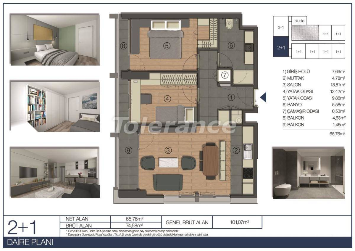 Apartments in Umraniye, Istanbul in a hotel type complex near the Istanbul Financial Center - 31546 | Tolerance Homes