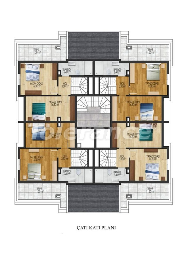 Luxury apartments in Sarisu, Konyaalti from a reliable developer by installments - 34026   Tolerance Homes