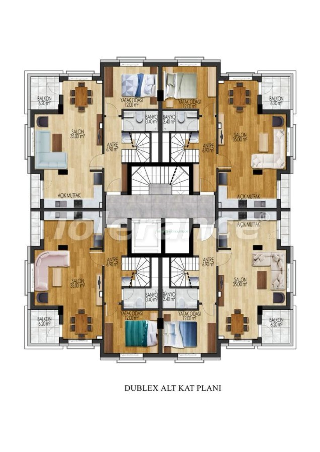Luxury apartments in Sarisu, Konyaalti from a reliable developer by installments - 34027   Tolerance Homes