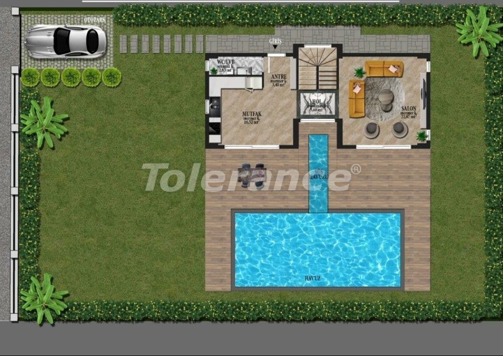 Luxury villas in Fethiye just 500 m from the famous Calis beach - 32882 | Tolerance Homes