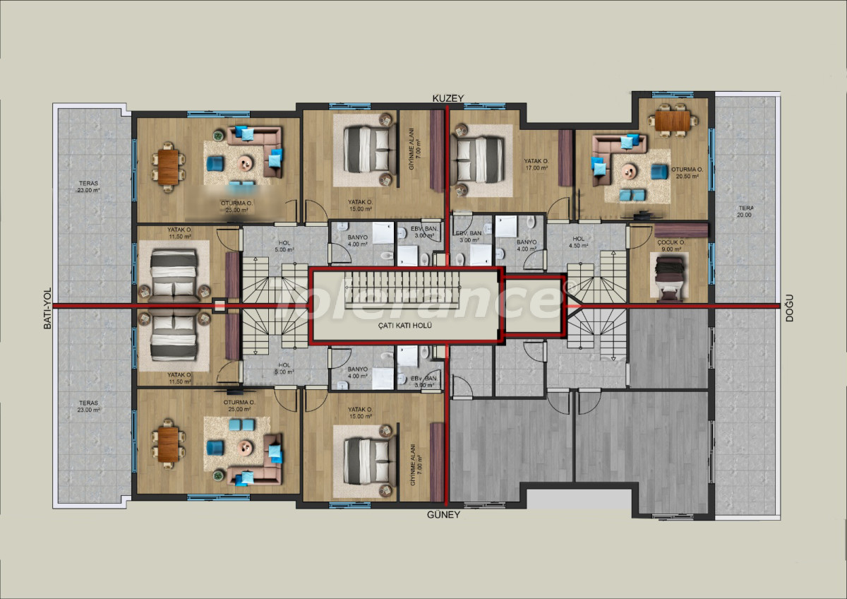Modern apartments in the center of Antalya from a reliable developer - 33196 | Tolerance Homes