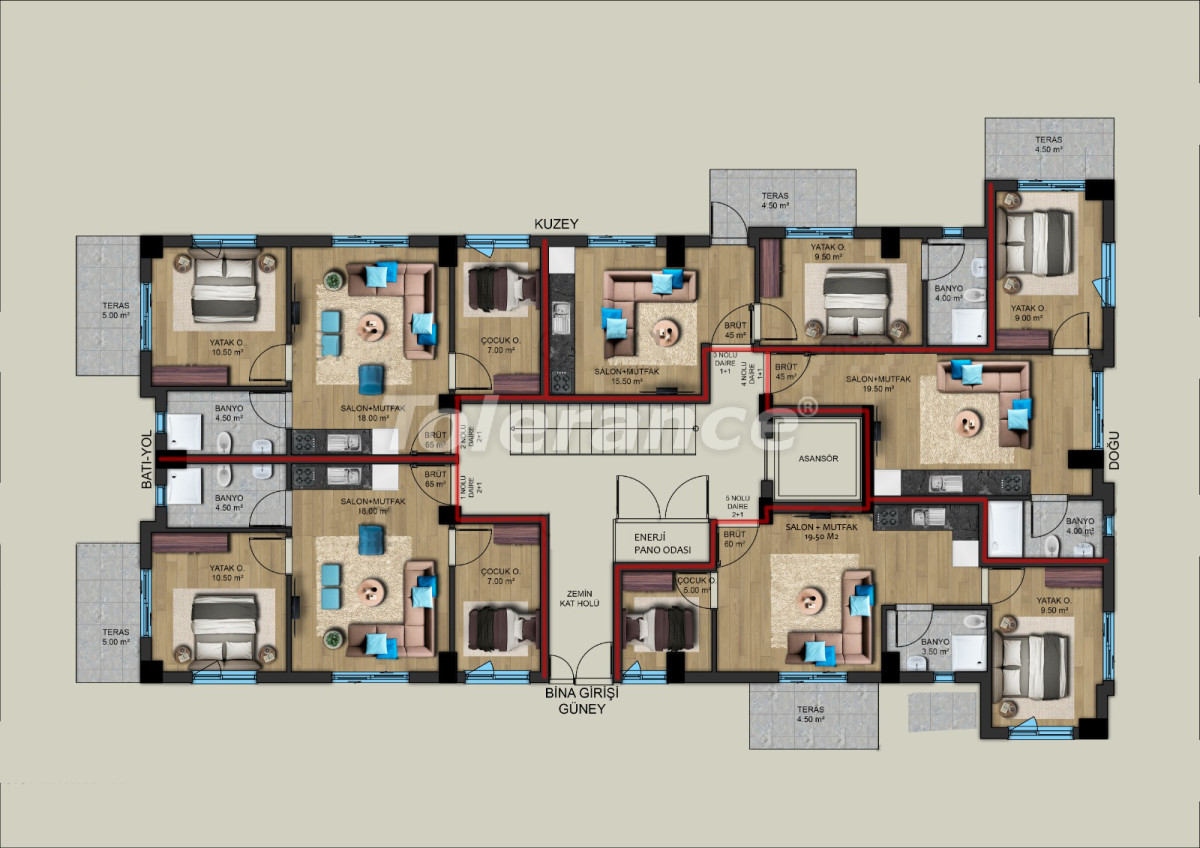 Modern apartments in the center of Antalya from a reliable developer - 33193 | Tolerance Homes