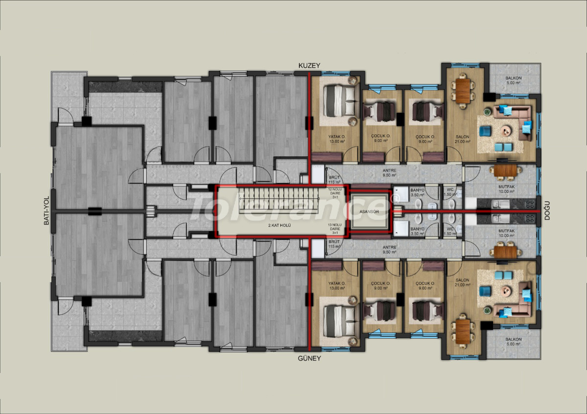 Modern apartments in the center of Antalya from a reliable developer - 33194 | Tolerance Homes