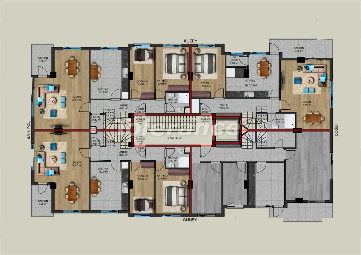 Modern apartments in the center of Antalya from a reliable developer - 33195 | Tolerance Homes