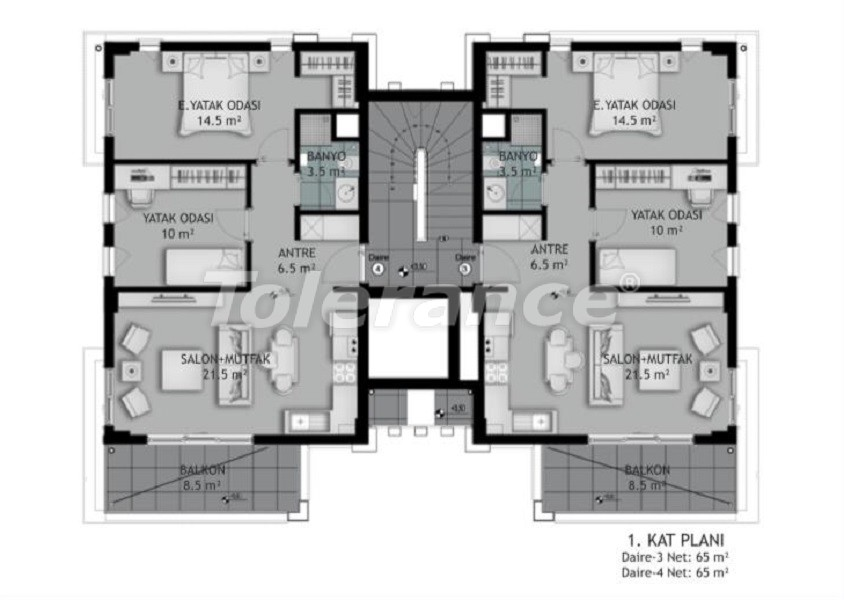New two-bedroom apartments in Belek in a complex with an outdoor pool, from the developer - 33575 | Tolerance Homes