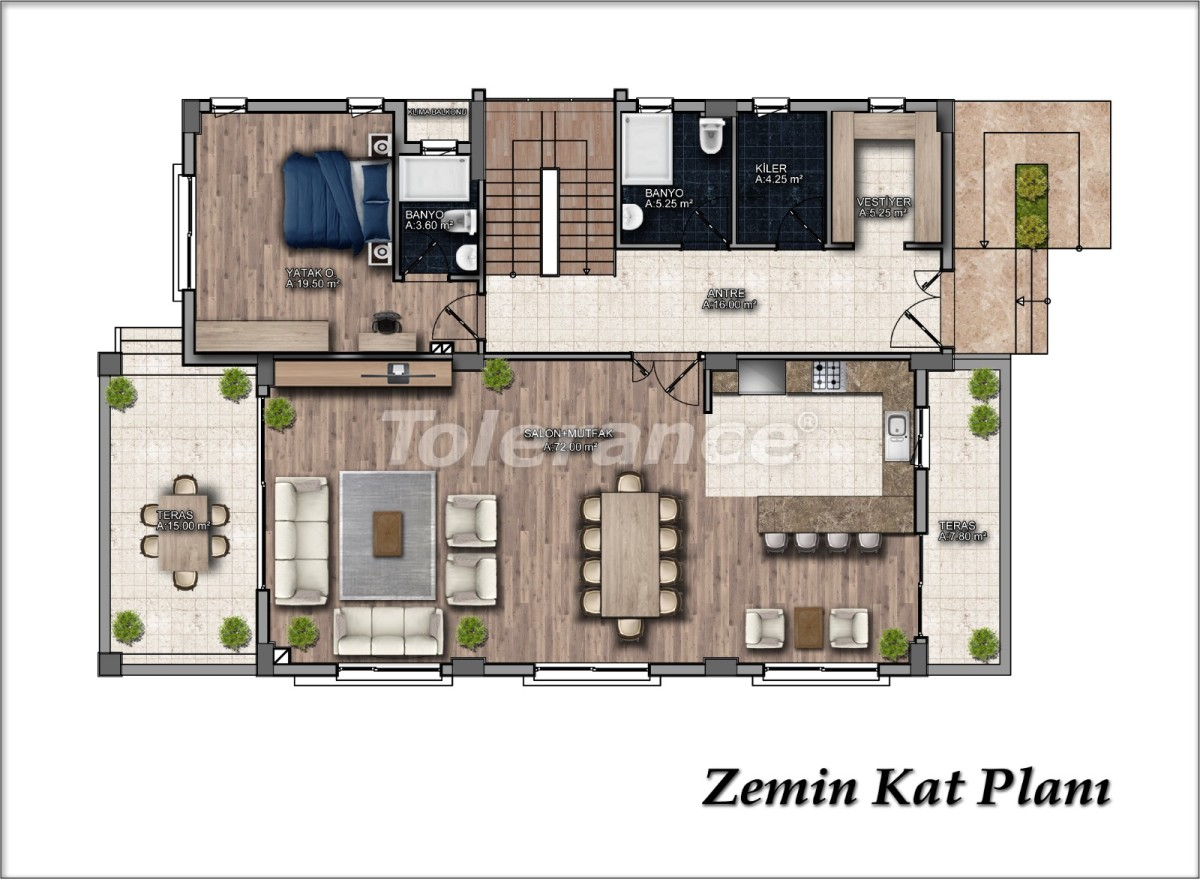 Luxurious detached villa in Dosemealti, Antalya with private pool - 33605 | Tolerance Homes