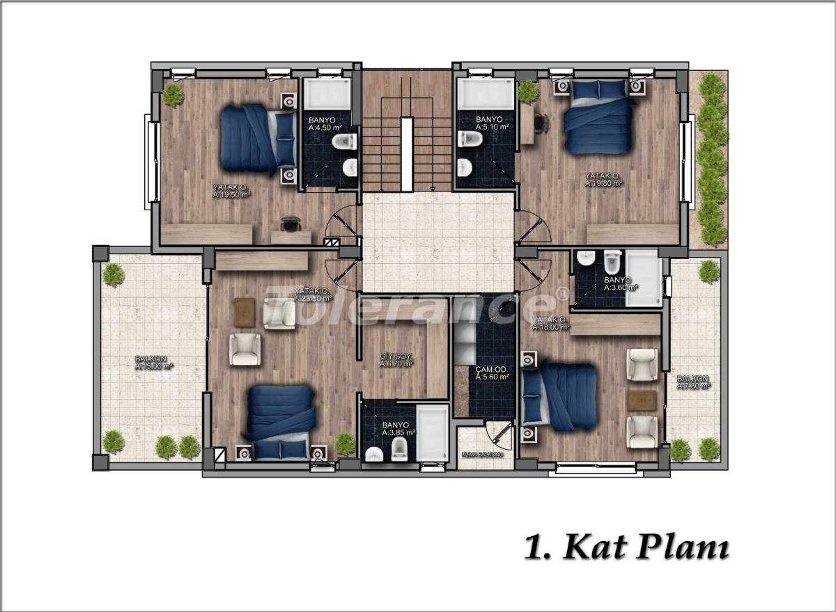 Luxurious detached villa in Dosemealti, Antalya with private pool - 33606 | Tolerance Homes