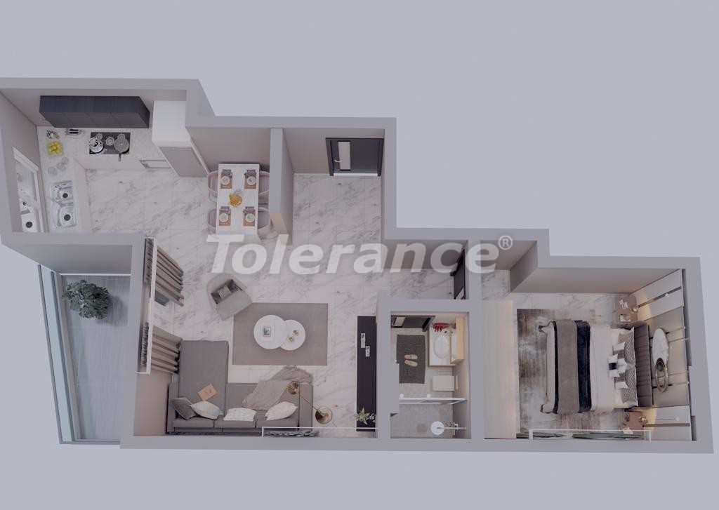 Modern apartments in Mahmutlar, Alanya from the developer - 33702 | Tolerance Homes