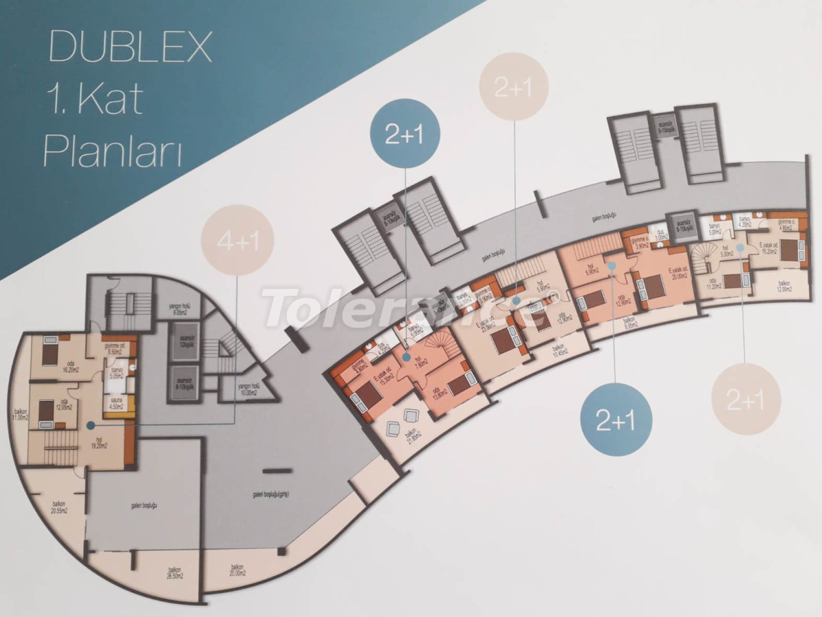 Spacious apartments in Mezitli, Mersin from the developer, with sea views - 33955 | Tolerance Homes