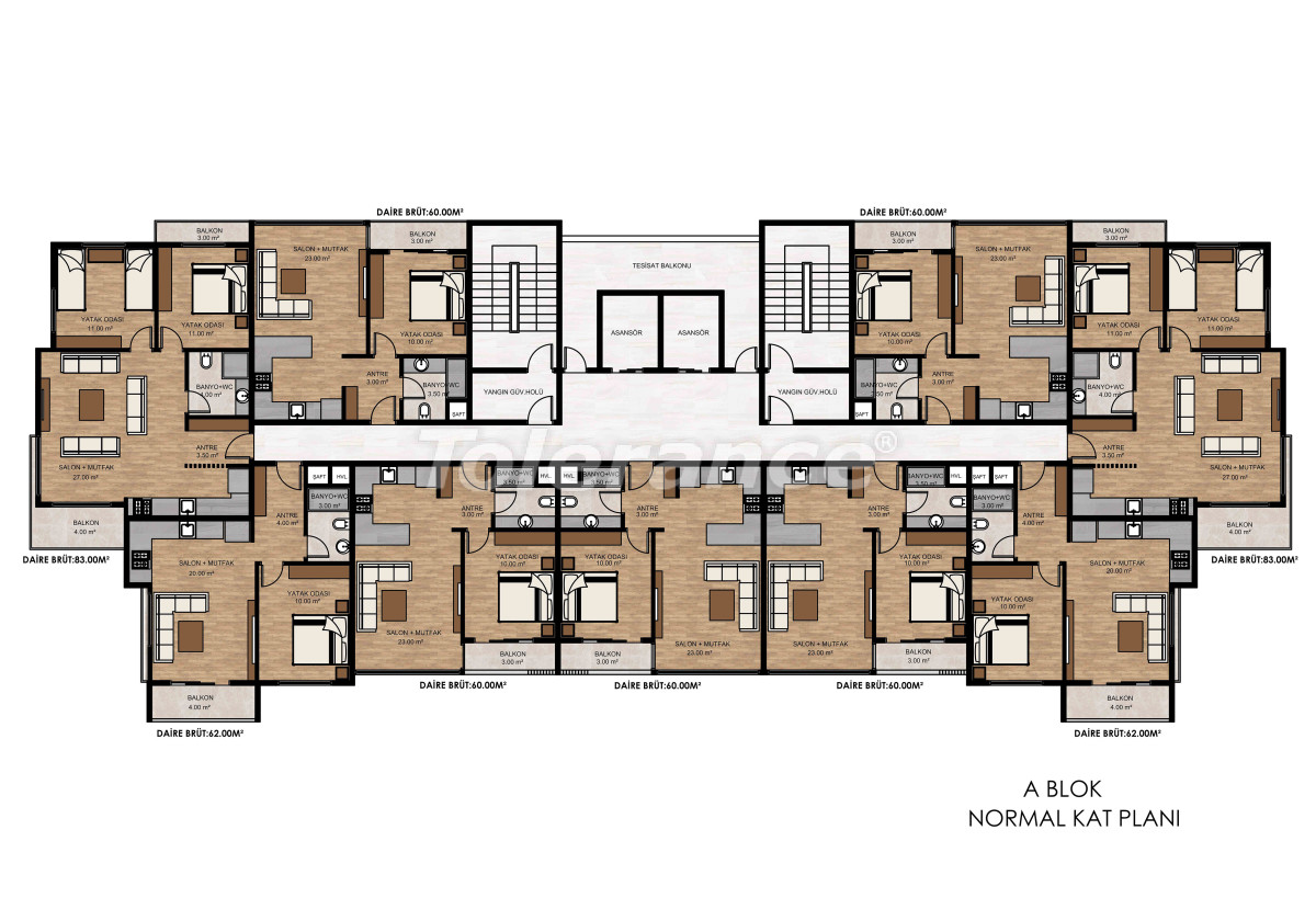 Apartments in Tece, Mersin near the sea and with installments from the developer - 34326 | Tolerance Homes