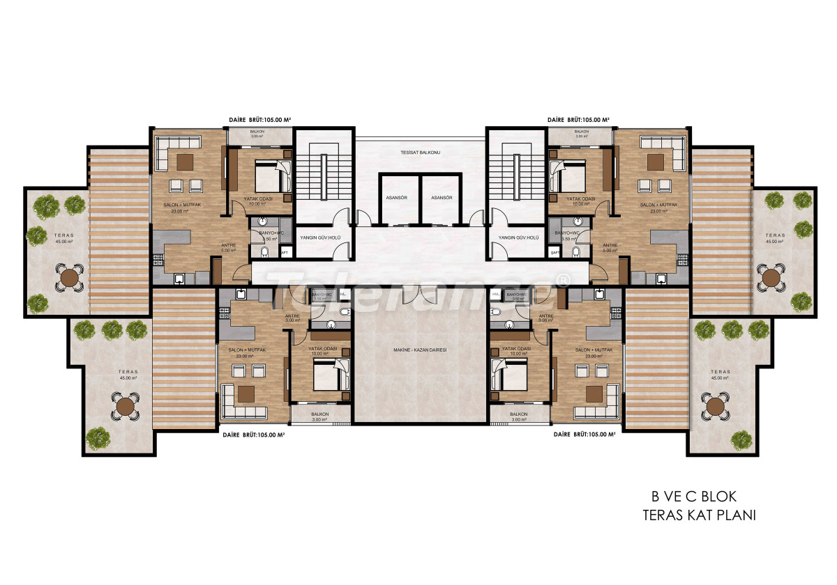 Apartments in Tece, Mersin near the sea and with installments from the developer - 34327 | Tolerance Homes