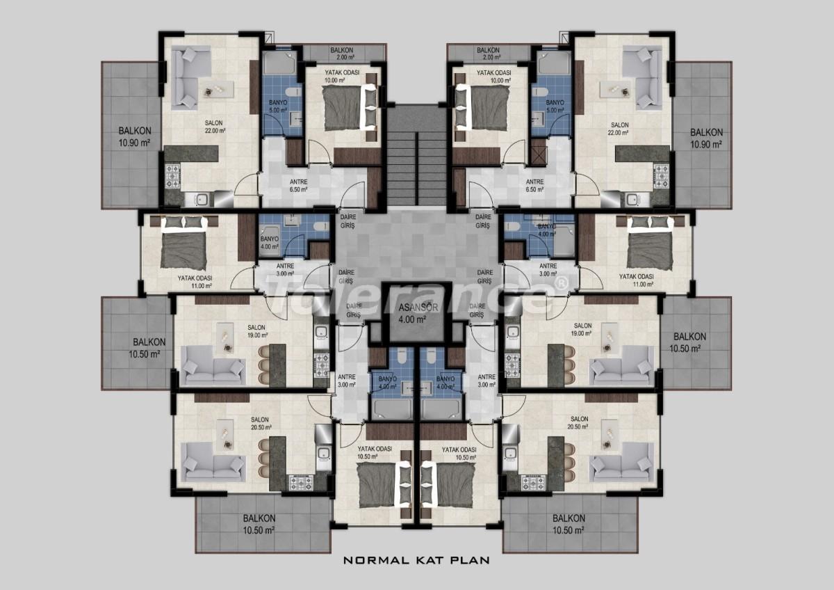 Flats in Avsallar, Alanya from the developer - 34473 | Tolerance Homes