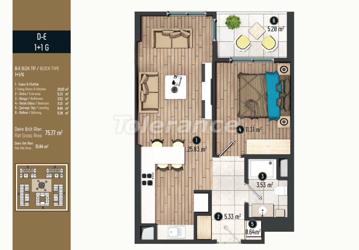 Luxury apartments in Istanbul in a modern complex, profitable for investment - 34571   Tolerance Homes