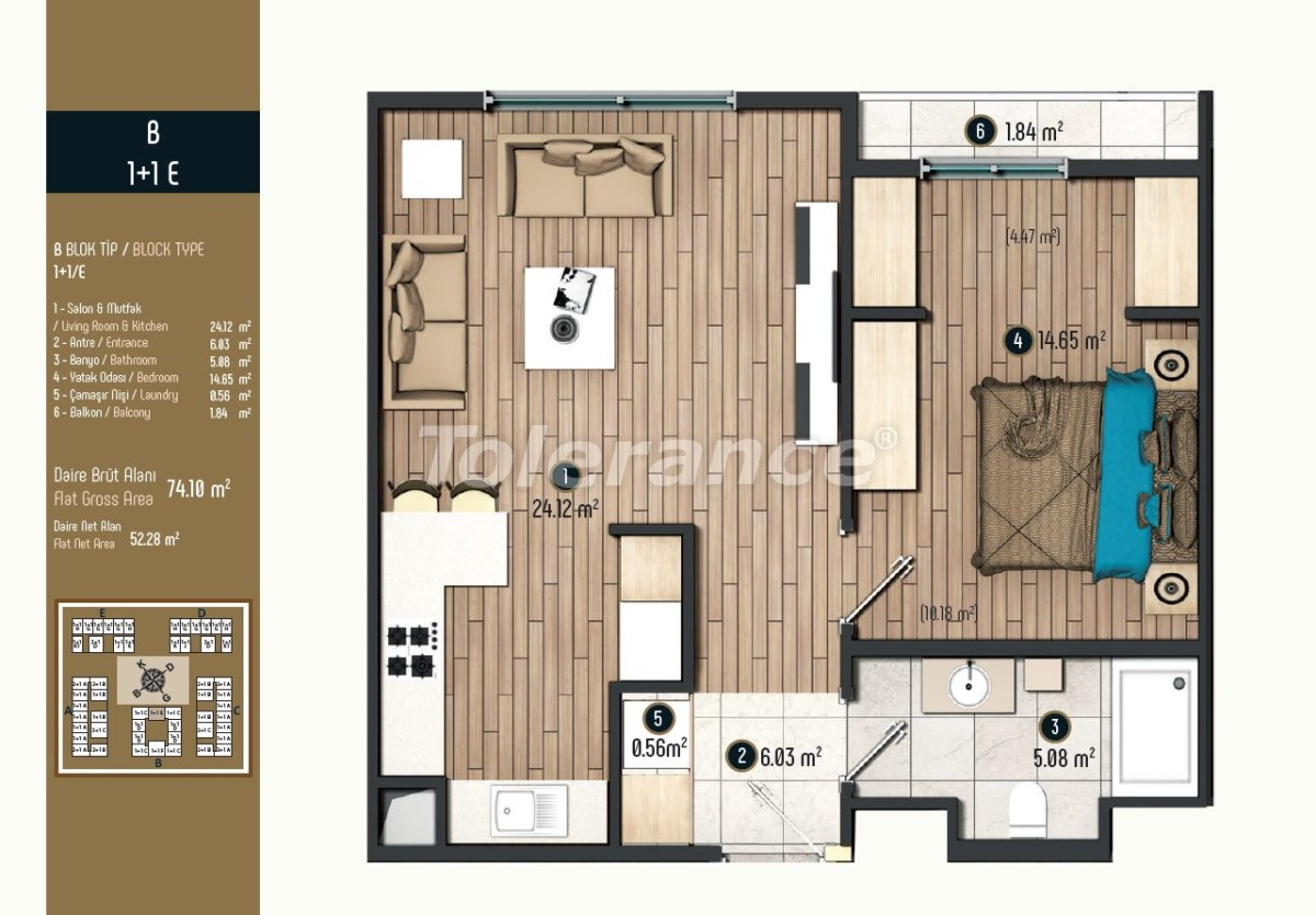 Luxury apartments in Istanbul in a modern complex, profitable for investment - 34569   Tolerance Homes