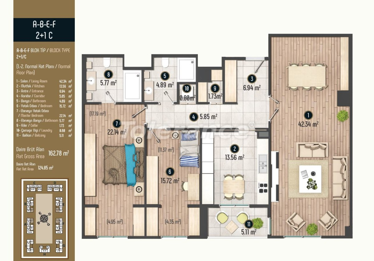 Luxury apartments in Istanbul in a modern complex, profitable for investment - 34582   Tolerance Homes