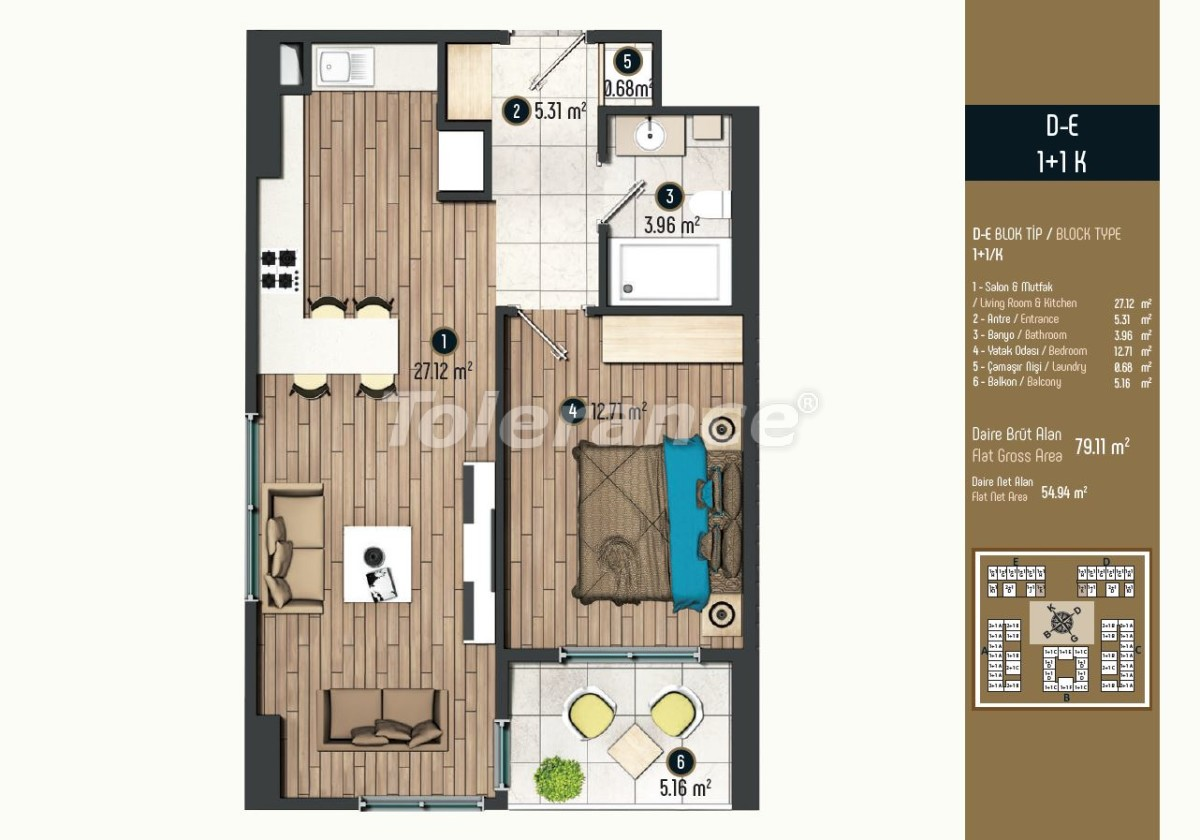 Luxury apartments in Istanbul in a modern complex, profitable for investment - 34574   Tolerance Homes