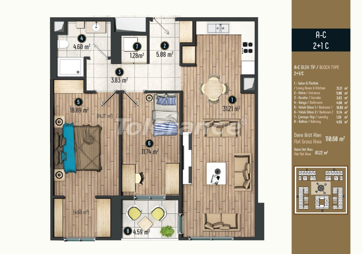 Luxury apartments in Istanbul in a modern complex, profitable for investment - 34578   Tolerance Homes