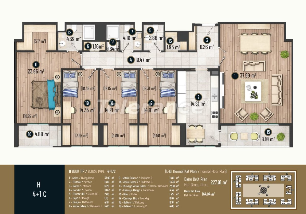 Luxury apartments in Istanbul in a modern complex, profitable for investment - 34589   Tolerance Homes