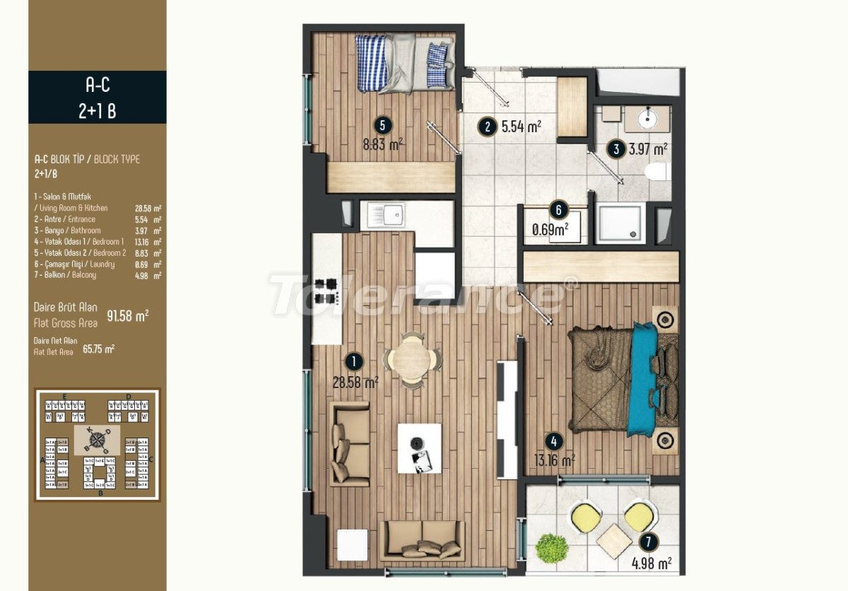 Luxury apartments in Istanbul in a modern complex, profitable for investment - 34577   Tolerance Homes